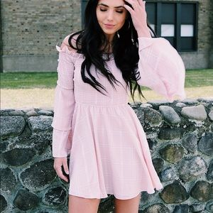 LPA off the shoulder pink dress